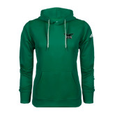 Adidas Climawarm Dark Green Team Issue Hoodie-Alternate Full Hawk Logo Reduced Color