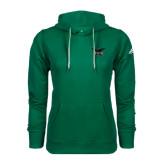 Adidas Climawarm Dark Green Team Issue Hoodie-Alternate Full Hawk Logo Reduced Color