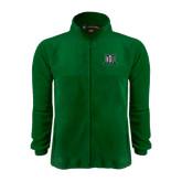Fleece Full Zip Dark Green Jacket-NSU Northeastern State