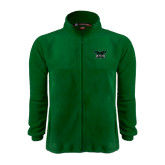 Fleece Full Zip Dark Green Jacket-Alternate Full Hawk Logo Reduced Color