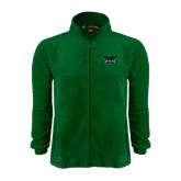 Fleece Full Zip Dark Green Jacket-Alternate Full Hawk Logo Reduced Color