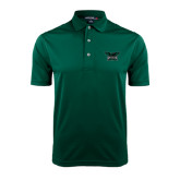 Dark Green Dry Mesh Polo-Alternate Full Hawk Logo Reduced Color