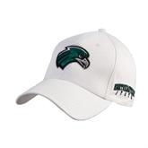 White Heavyweight Twill Pro Style Hat-RiverHawk Head