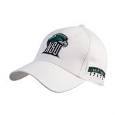 White Heavyweight Twill Pro Style Hat-NSU RiverHawk Head