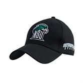 Black Heavyweight Twill Pro Style Hat-NSU RiverHawk Head