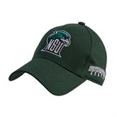 Dark Green Heavyweight Twill Pro Style Hat-NSU RiverHawk Head