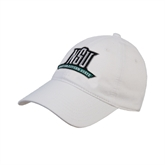 White Twill Unstructured Low Profile Hat-NSU Northeastern State