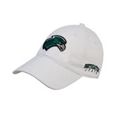 White Twill Unstructured Low Profile Hat-RiverHawk Head