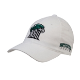 White OttoFlex Unstructured Low Profile Hat-NSU RiverHawk Head