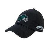 Black Twill Unstructured Low Profile Hat-RiverHawk Head