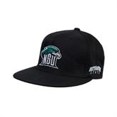 Black OttoFlex Flat Bill Pro Style Hat-NSU RiverHawk Head