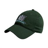 Dark Green Twill Unstructured Low Profile Hat-NSU Northeastern State