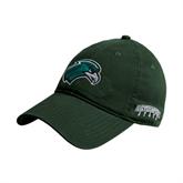 Dark Green Twill Unstructured Low Profile Hat-RiverHawk Head