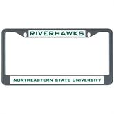 Metal License Plate Frame in Black-Riverhawks