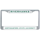Metal License Plate Frame in Chrome-Riverhawks