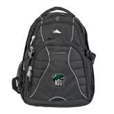High Sierra Swerve Black Compu Backpack-NSU RiverHawk Head