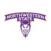 Medium Decal-Arched Northwestern State w/Demon Head, 8 inches wide
