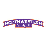Large Decal-Arched Northwestern State, 12 inches wide