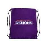 Purple Drawstring Backpack-Northwestern State Demons