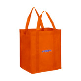 Non Woven Orange Grocery Tote-Arched Northwestern State