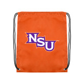 Orange Drawstring Backpack-NSU