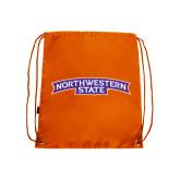 Orange Drawstring Backpack-Arched Northwestern State