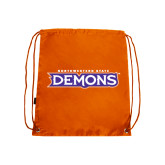 Orange Drawstring Backpack-Northwestern State Demons