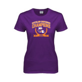 Ladies Purple T Shirt-2015 Southland Conference Tennis Champions