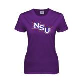 Ladies Purple T Shirt-NSU