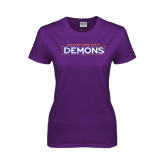 Ladies Purple T Shirt-Northwestern State Demons