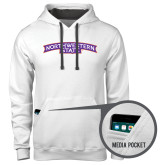 Contemporary Sofspun White Hoodie-Arched Northwestern State