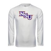 Performance White Longsleeve Shirt-NSU