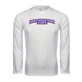 Performance White Longsleeve Shirt-Arched Northwestern State
