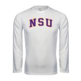 Performance White Longsleeve Shirt-Arched NSU