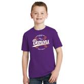 Youth Purple T Shirt-Demons Softball Seams