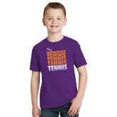 Youth Purple T Shirt-Tennis Repeating