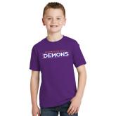 Youth Purple T Shirt-Northwestern State Demons