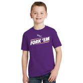 Youth Purple T Shirt-Fork Em