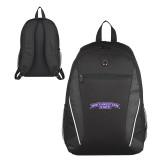 Atlas Black Computer Backpack-Arched Northwestern State