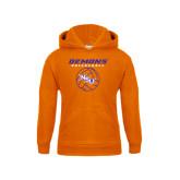 Youth Orange Fleece Hoodie-Demons Volleyball Stacked