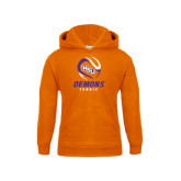Youth Orange Fleece Hoodie-Tennis Abstract Ball