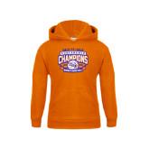 Youth Orange Fleece Hoodie-Womens Basketball Back To Back Champions
