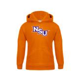 Youth Orange Fleece Hoodie-NSU