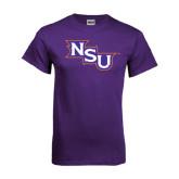 Purple T Shirt-NSU Distressed