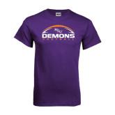 Purple T Shirt-Demons Football Horizontal
