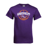 Purple T Shirt-Demons Basketball Arched