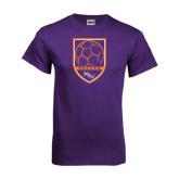 Purple T Shirt-Soccer Shield