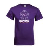Purple T Shirt-Demons Soccer Geometric