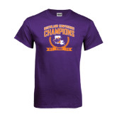 Purple T Shirt-2015 Southland Conference Tennis Champions