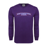 Purple Long Sleeve T Shirt-Arched Northwestern State